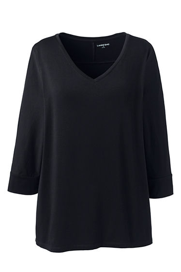 Womens Plus Size Dolman Sleeve Wedge Top From Lands End
