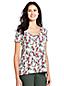 Le T-Shirt Ample Imprimé en Coton Modal Stretch, Femme Stature Standard