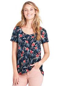 Women's Floral Short Sleeve Scoop Neck T-shirt
