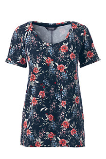 Women's Modal Jersey Floral Print Top
