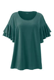 Women's Plus Size Stacked Ruffle Sleeve Tunic