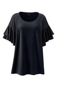 Women's Plus Size Stacked Ruffle Sleeve Tunic