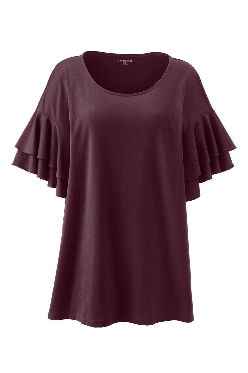 d8fa10558474d Women s Plus Size Stacked Ruffle Sleeve Tunic. Item  4988166Q4. View  Fullscreen