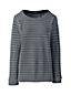 Le Haut Rayé Texturé en Coton, Femme Stature Standard