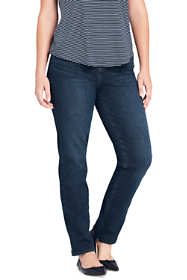 Women's Plus Size Mid Rise Pull On Slim Jeans