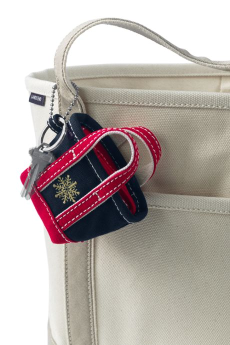 Embroidered Tote Keychain