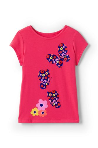 Grafik-Shirt aus Baumwolle für große Mädchen
