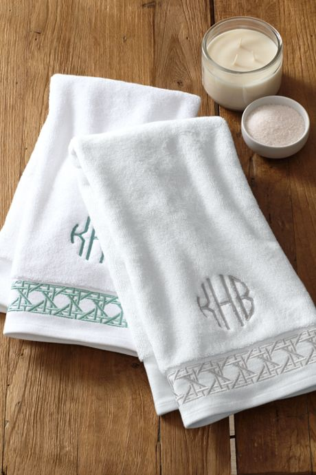 Turkish Cane Weave Embroidered Bath Towel