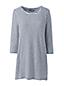 La Tunique Rayée en Coton Modal Stretch Manches 3/4, Femme Stature Standard