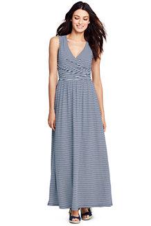 Womens 3-Quarter Sleeve Stripe Shift Dress - 16 - BLUE Lands End JVz4e4I