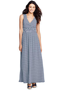 Womens Regular Stretch Jersey Maxi Dress - 14-16 - Green Lands End Finishline Cheap Price Cheap Eastbay XxZRh5XgYm