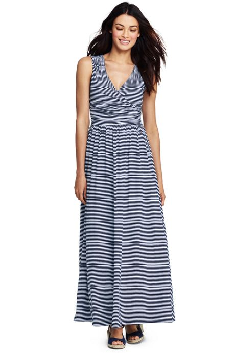 Women's Sleeveless Knit Surplice Maxi Dress