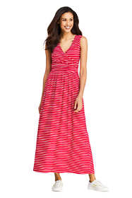 Women's Petite Sleeveless Knit Surplice Maxi Dress