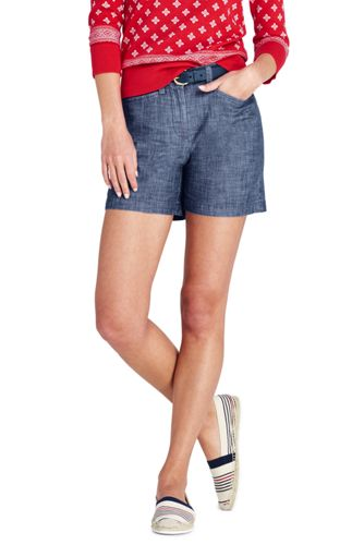 Women's Mid Rise 5″ Chambray Shorts
