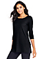 Women's Three-quarter Sleeve Ribbed Long Top
