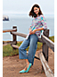Women's Plus Madras Cotton Roll Sleeve Shirt