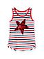 Litte Girls' Sequin Star Vest Top
