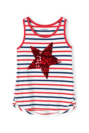bc06244f Girls' Sequin Star Vest Top | Lands' End
