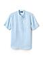 Men's Collarless Linen Shirt