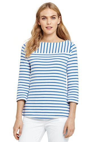 Women's Mixed Stripe Jersey Top