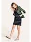 La Robe Housse Rayée en Jersey Stretch, Femme Stature Standard