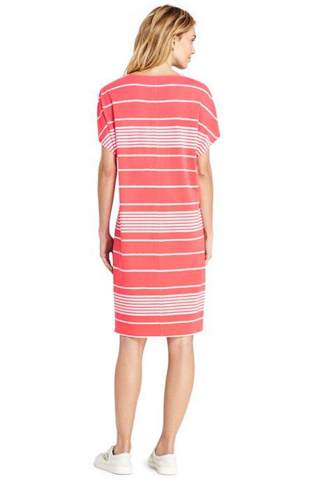 Women's Petite Short Sleeve Knit Tee Shirt Dress