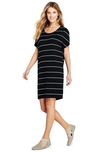 1894e00064183 Women's Striped Jersey T-shirt Dress | Lands' End