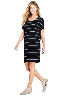 Women's Striped Jersey T-shirt Dress