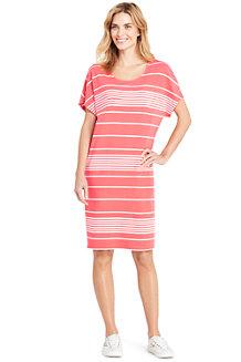 Gestreiftes Jersey-Shirtkleid aus Baumwolle/Modal für Damen