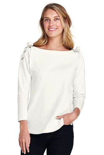 Women's Tie-shoulder Jersey Top