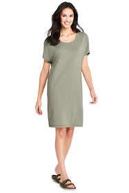 Women's Short Sleeve Knit Tee Shirt Dress