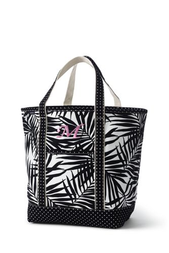 4cad6dc63086 All Over Print Canvas Tote Collection from Lands  End