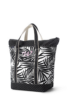 All-over Printed Large Zip Top Tote Bag