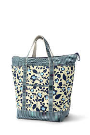 All Over Print Large Zip Top Tote Bag