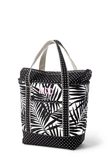 All-over Printed Medium Zip Top Tote Bag