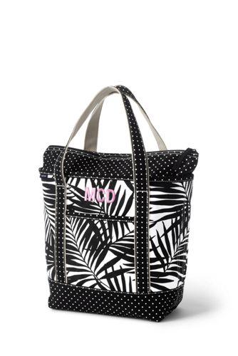 All-over Printed Medium Zip Top Tote Bag