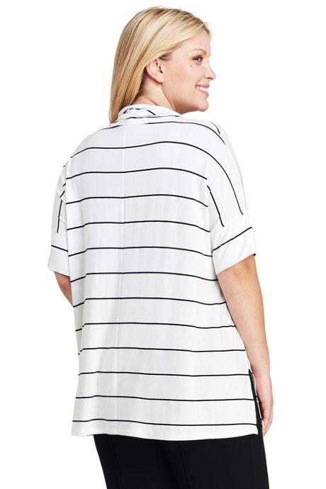 Women's Plus Size Cowl Tunic Top