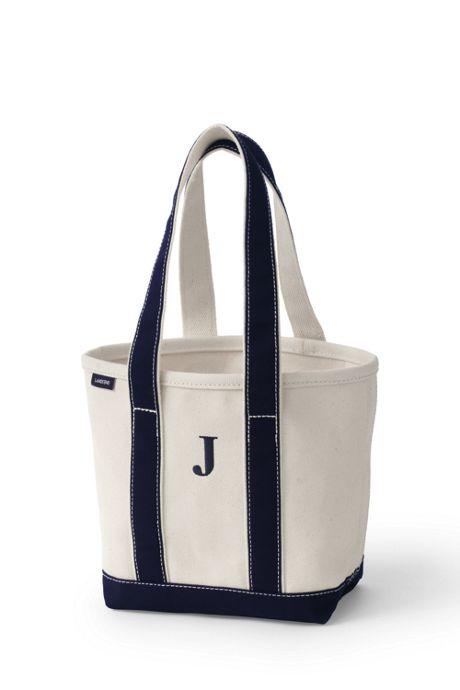 Small Natural Open Top Long Handle Canvas Tote Bag