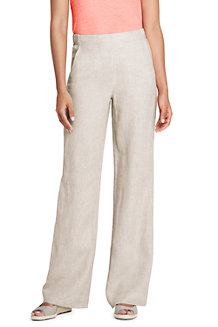 Women's Wide Leg Linen Trousers