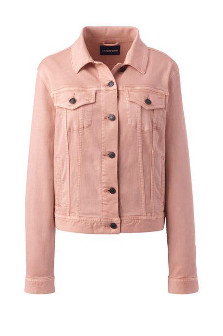 Women's Petite Long Sleeve Denim Jacket