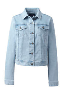 Women's Long Sleeve Denim Jacket, Front