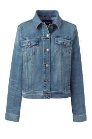 Women's Plus Size Long Sleeve Denim Jacket