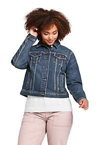 13170fc59a3 Women s Plus Size Long Sleeve Denim Jacket