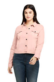 Women's Plus Size Long Sleeve Denim Jacket