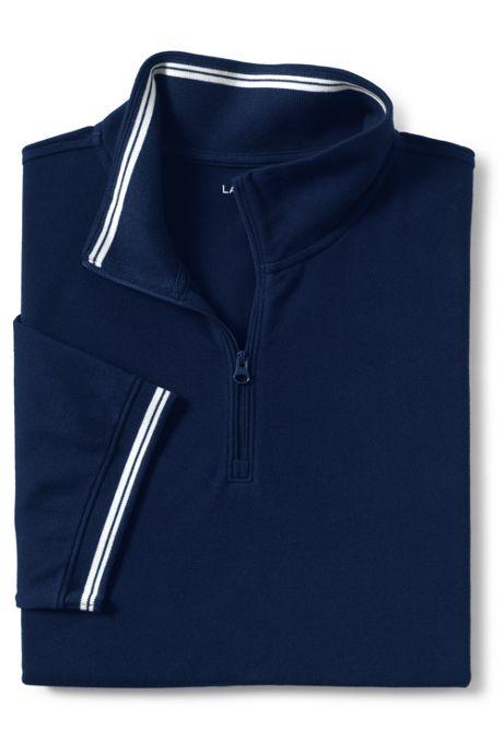 Men's Short Sleeve Stretch Pique Quarter Zip