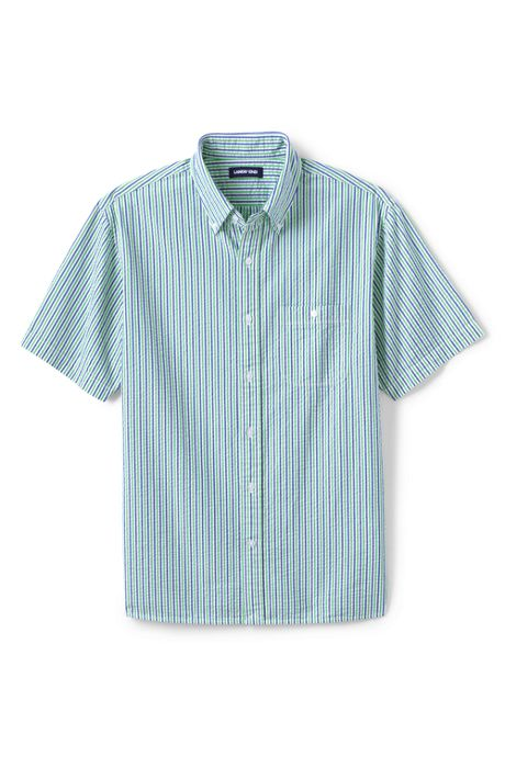 Men's Big and Tall Traditional Fit Short Sleeve Seersucker Shirt