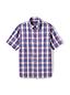 Men's Short Sleeve Seersucker Cotton Shirt