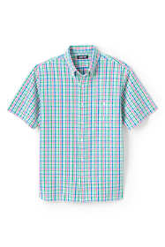 Men's Traditional Fit Short Sleeve Seersucker Shirt