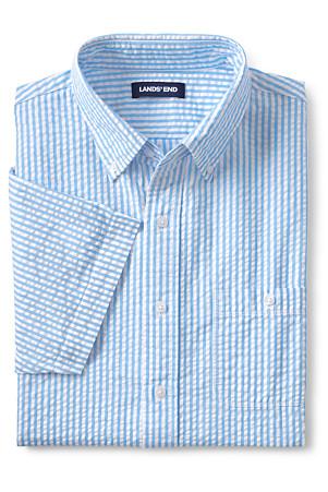 953471ab54c6d6 Men's Short Sleeve Seersucker Cotton Shirt   Lands' End