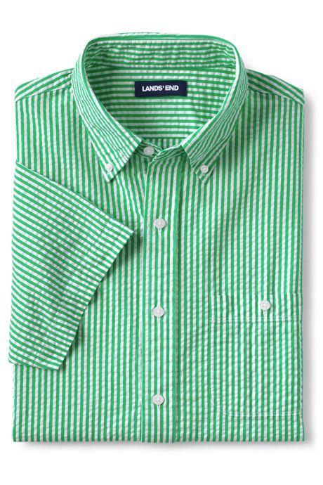 Men's Tall Traditional Fit Short Sleeve Seersucker Shirt